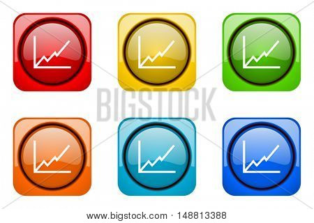 chart colorful web icons