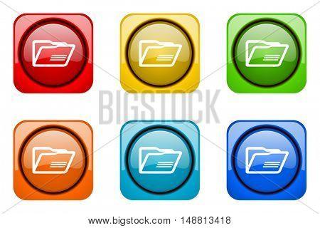 folder colorful web icons