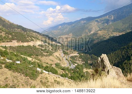 Mountains in South of France in September