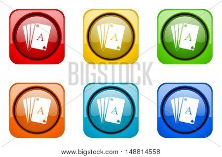 card colorful web icons