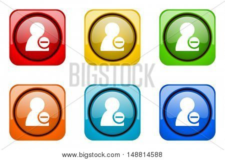 remove contact colorful web icons