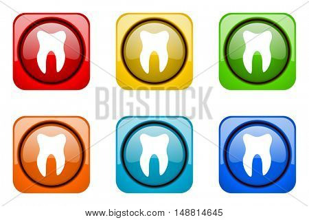 tooth colorful web icons