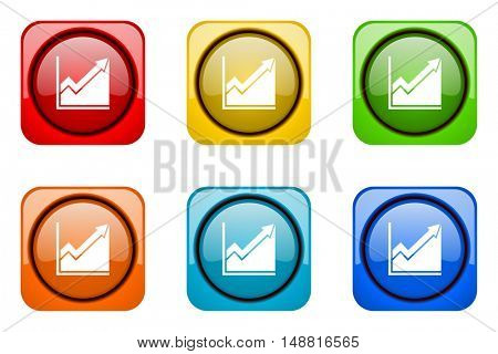 histogram colorful web icons