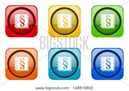law colorful web icons