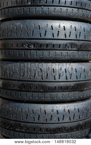 Set Of Motor Sport Rally Car Tires