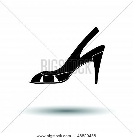 Woman Heeled Sandal Icon