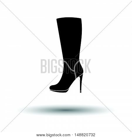 Autumn Woman High Heel Boot Icon