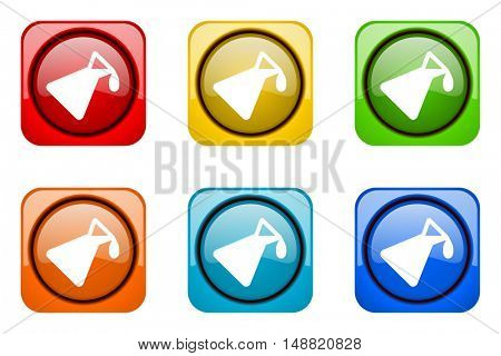 chemistry colorful web icons