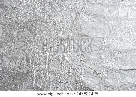 Shiny silver paper foil decorative texture background