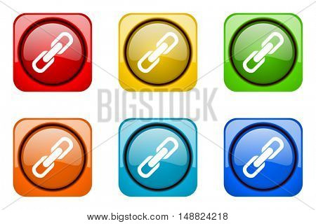 link colorful web icons