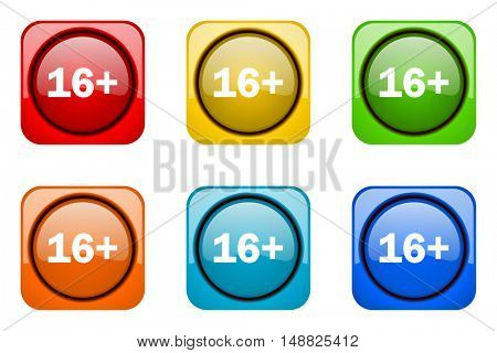 adults colorful web icons