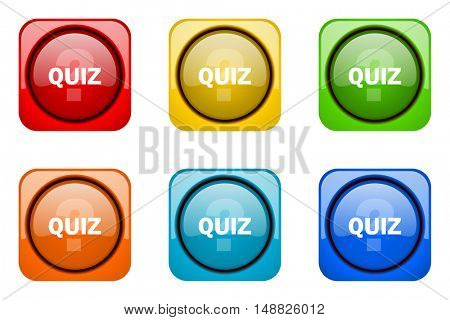 quiz colorful web icons