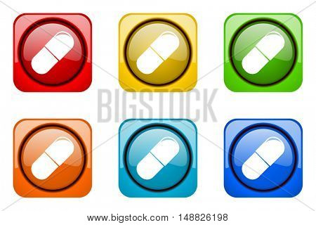 drugs colorful web icons