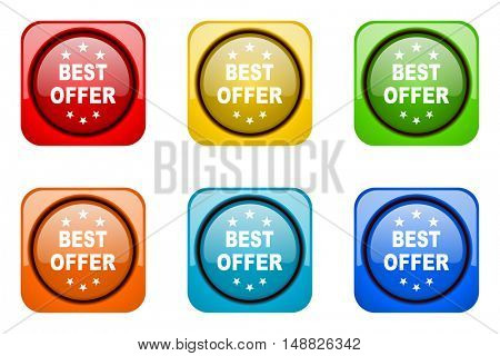 best offer colorful web icons