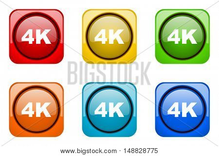 4k colorful web icons