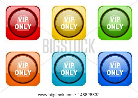 vip only colorful web icons