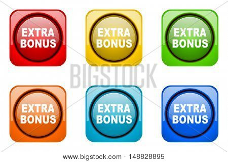 extra bonus colorful web icons