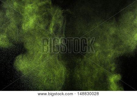 Light Green Powder Explosion.