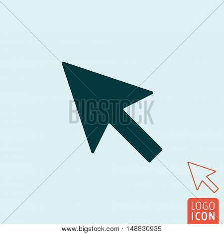 Cursor icon. Arrow cursor symbol. Vector illustration
