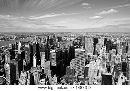 Midtown Manhattan Aerial View