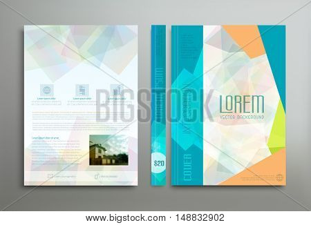 Vector color template: cover, flyer, brochure, book, report business