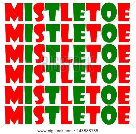 Abstract creative Christmas mistletoe greeting card scene