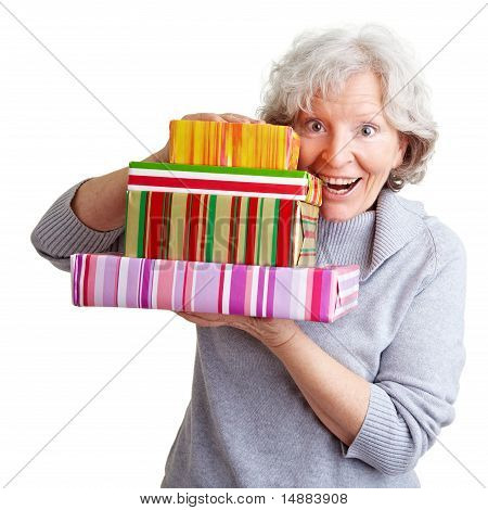 Senior Woman With Many Gifts