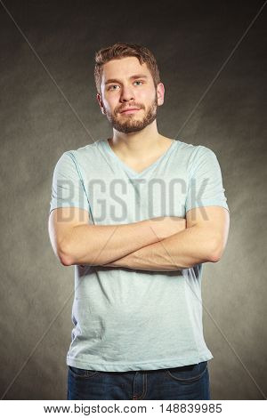 Handsome Casual Fashion Man Guy In Shirt.