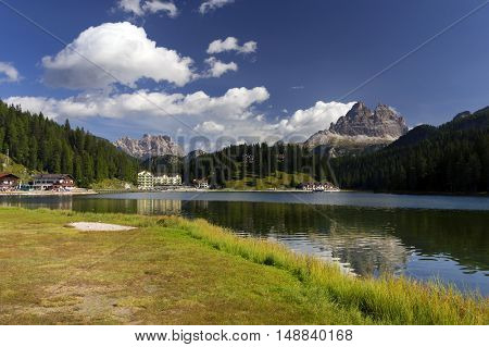 Misurina Lake in the Dolomites, Italy, Europe