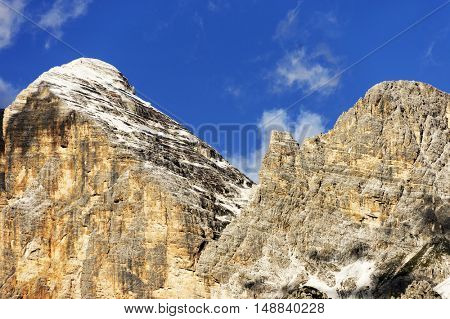 Toffana di Rozes in the Dolomites, Italy, Europe