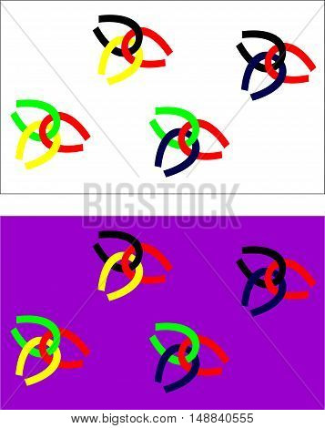 Background: illustration of colorful chains. Vector illustration.