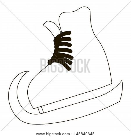 Skates icon in outline style isolated on white background. Winter sport symbol vector illustration
