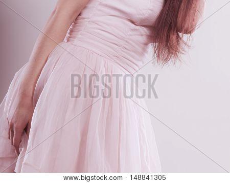 Woman Wearing Bright Dress
