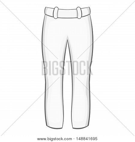 Mens pants icon in black monochrome style isolated on white background. Clothing symbol vector illustration
