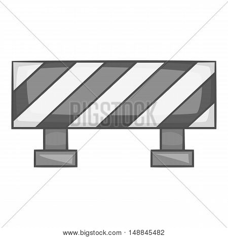 Sign ban travel icon in black monochrome style isolated on white background. Fence symbol vector illustration