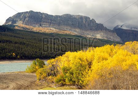 The season ends with fall saturated color in Glacier National Park