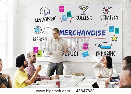 Merchandise Business Goal Investment Plan Concept