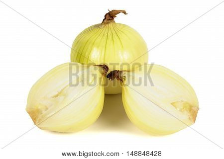 Onions isolated on white background with clipping path