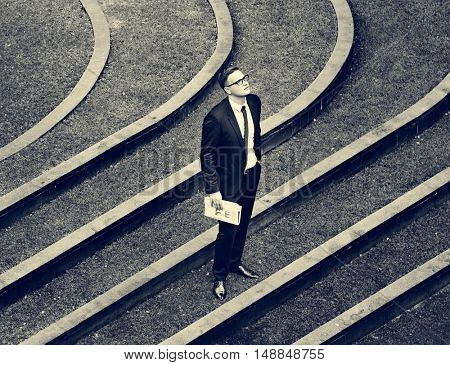 Businessman Outdoor Corporate Waiting Concept