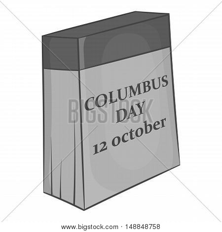 Columbus day of twelfth october icon in black monochrome style isolated on white background. Holiday symbol vector illustration