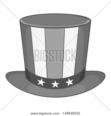 American hat icon in black monochrome style isolated on white background. Headdress symbol vector illustration