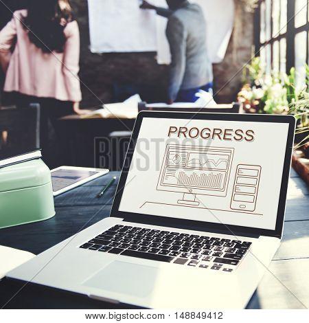 Progress Summary Analytics Computer Concept