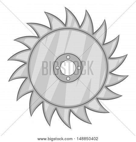 Drive for saw icon in black monochrome style isolated on white background. Tools symbol vector illustration