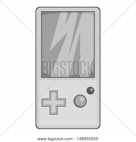Tetris for games icon in black monochrome style isolated on white background. Play symbol vector illustration