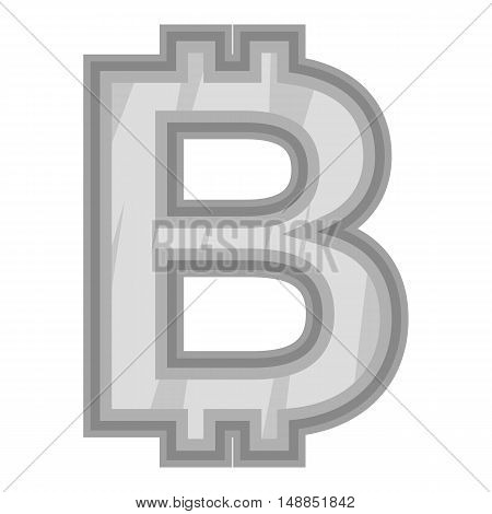 Sign bat icon in black monochrome style isolated on white background. Currency symbol vector illustration