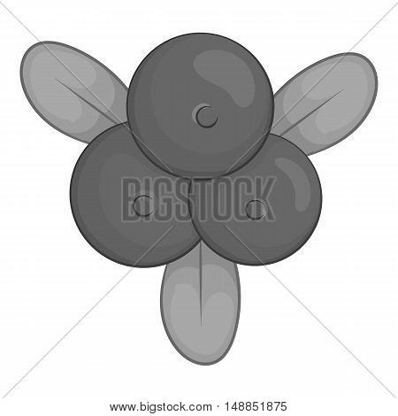 Berries icon in black monochrome style isolated on white background. Food symbol vector illustration