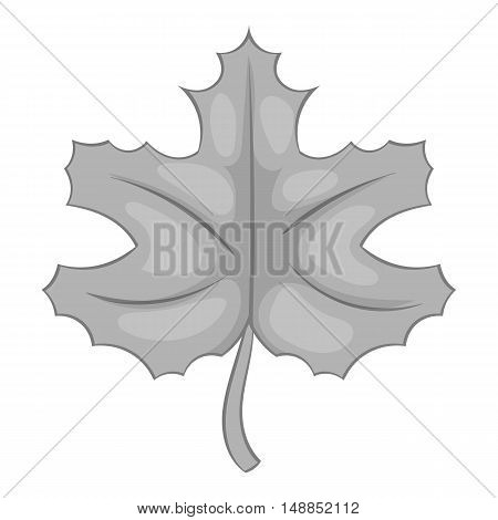 Autumn leaf icon in black monochrome style isolated on white background. Plant symbol vector illustration