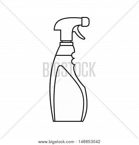 Cleaner for windows icon in outline style isolated on white background. Cleaning symbol vector illustration