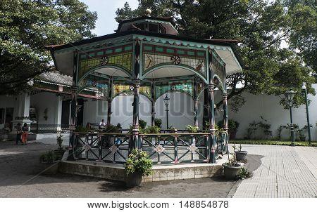 Yogyakarta Indonesia - April 4, 2016 : Sultan Palace called Kraton Ngayogyakarta Hadiningrat in Yogyakarta Indonesia.