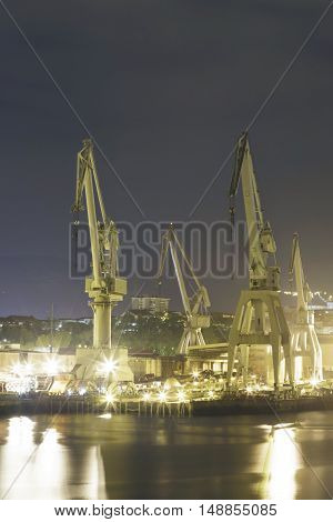 Night Activity At The Naval Factories.